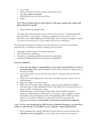 cover letters for manuscripts example of a cover letter for a manuscript sample cover letter for