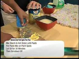 remove dry paint with household items