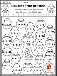 First Grade Math Worksheets Using Doubles | Homeshealth.info