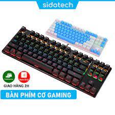Bàn phím cơ gaming TKL 87 nút mini SIDOTECH YINDIAO K004 Blue Switch cảm  giác bấm chơi game tốt có LED RGB 7 màu - Bàn phím chơi game Nhãn hiệu sido