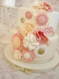 Vintage Ruffle Flower Birthday Cake Cakecentralcom