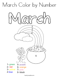 Small Picture March Coloring Pages Twisty Noodle