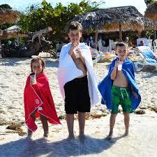kids hooded beach towels. Kids Waffle Weave Microfiber Beach, Sport, Travel Towels With Snaps Hooded Beach E