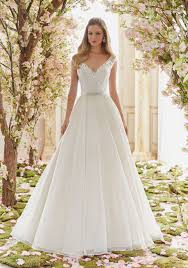 beaded embroidery on organza wedding dress style 6836 morilee