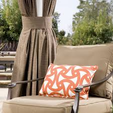 custom outdoor pillow in trina turk santorini persimmon custom outdoor ds in sunbrella walnut d with matching