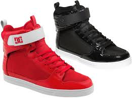 dc shoes high tops red and black. dc shoes high tops red and black