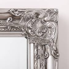 beautifull distressed vintage style wall mirror silver pewter