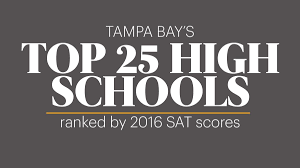 Hillsborough County Exam Grades Chart Tampa Bay Area High Schools Ranked By Sat Scores Tampa Bay