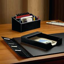 black leather desk organizer desk set 3 piece black black faux leather desk organizer