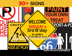 Printable Construction Signs Construction Party Signs Instant Download