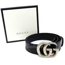 gucci leather belt double g buckle black size 85 gucci