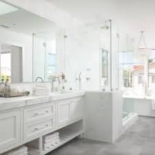 white marble master bathrooms. Simple Bathrooms Luxurious White Marble Master Bathroom And Bathrooms T
