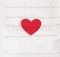 Ekg Graph Paper Electrocardiogram Stock Photo Colourbox