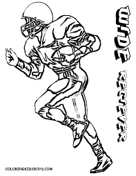 Small Picture Josh Loves These Football Coloring Pages And Football Player