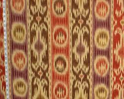 ikat fabric retro craftsman african ethnic rug orange purple destash