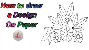 Draw A Design Handwork How To Draw A Design On Paper In Very Easy Way 129