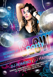 glow flyer glow party 2017 flyer psd template by elegantflyer