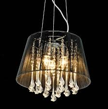 chandelier with black shade and crystal drops chandeliers design lighting ideas
