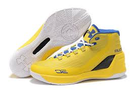 under armour basketball shoes stephen curry 3. under armour ua steph curry 3 yellow royal blue white mens basketball sports shoes trainers stephen