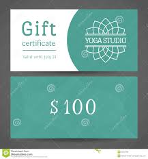 yoga studio gift certificate template stock photos images yoga studio vector gift certificate template royalty stock images