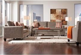 The Brick Living Room Furniture Sofia Vergara Collection Catalina Polyester Sofa Platinum The