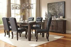 Pine Kitchen Table And Chairs Signature Design By Ashley Trudell Solid Wood Pine Dining Room
