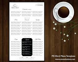 free food menu templates food menu templates for word design free dinner microsoft