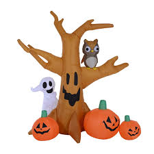 <b>Halloween</b> 24 Orange LED Light Up <b>Pumpkin Tree</b> spooky Party Prop