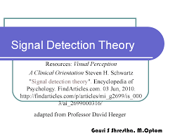 Signal Detection theory - Docsity