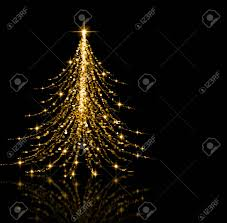 Gold Tree Lights Christmas Gold Tree Beautiful Lights Stars And Snowflakes