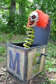 Halloween Outside Decoration Ideas Box With A Scary Clown Mask Will  Frighten Anyone Halloween Porch Decorating Ideas  knjdz.com