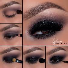 black smokey eye pop of glitter insram elymarino