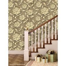 Buy Online 3D Flowers PVC Wallpaper for ...