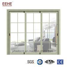 security powder coated sliding doors aluminium laminated glass sliding door