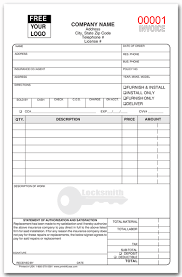 locksmith invoice forms locksmith invoice forms sample business template