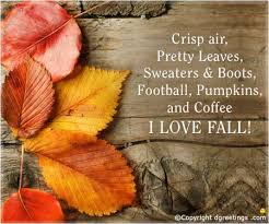 lovely hello autumn card quote