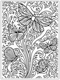 Adults Color Pages Free Printable Butterflies Templates Print The