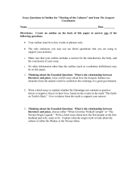 chapter native americans of north america essay questions to outline for ldquomeeting of the