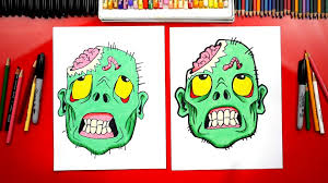how to draw a zombie head for