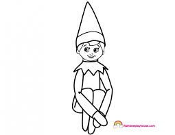 Elf On The Shelf Coloring Page Rainbow Playhouse Coloring Pages