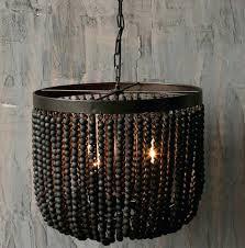 wood bead chandelier black beaded dining room chandeliers world market