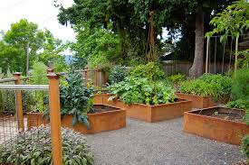 Small Picture The Gorgeous of Raised Bed Vegetable Garden Design made of Rusty