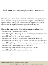 Top8electricaldesignengineerresumesamples 150406202008 Conversion Gate01 Thumbnail 4 Jpg Cb 1428369662