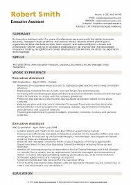 Executive Assistant Resume Samples Qwikresume