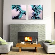 blue abstract 3d metal oil painting
