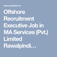 Offshore Recruitment Executive Job In Ma Services Pvt Limited
