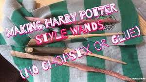 how to make harry potter style wands no glue or chopsticks