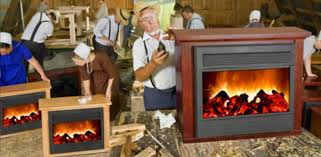 Elec Fireplace Heater Caurius Amish Fireplace Heaters  DactusAmish Fireless Fireplace