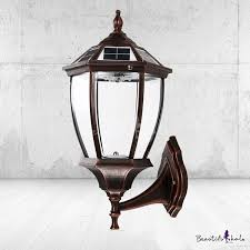 21 h vintage copper waterproof bright 10 led solar outdoor wall lamp takeluckhome com