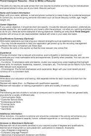 sample resume floral designer resume template - Floral Designer Resume